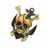 Temporary Tattoo Skull Anchor Old school