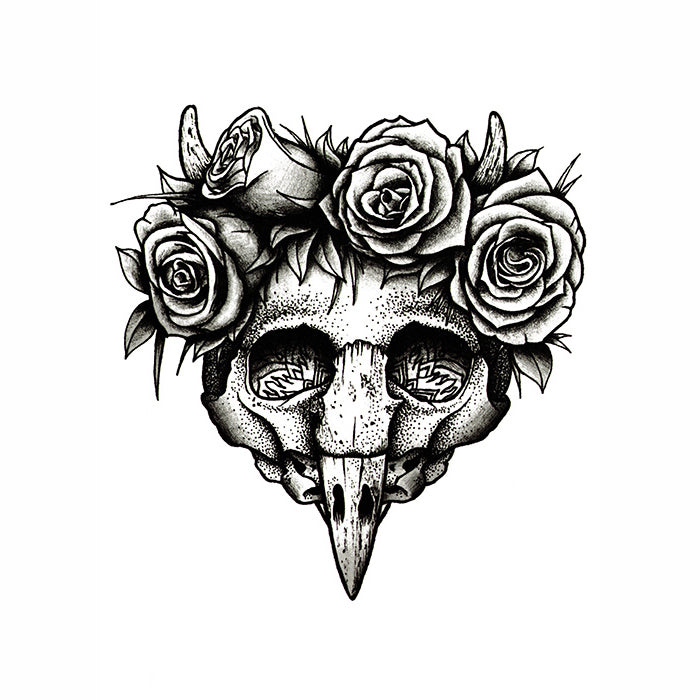 Flower Crown Skull