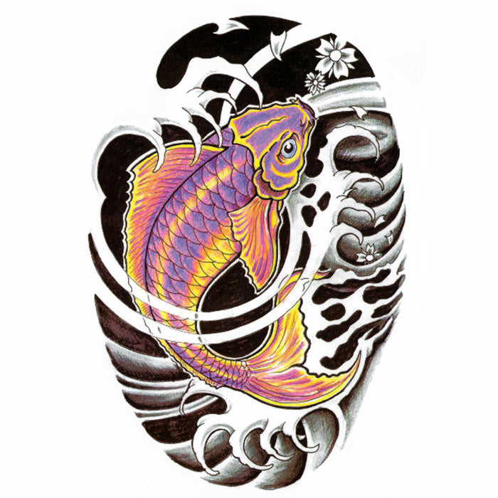 Temporary Tattoo Japanese Koi Carp