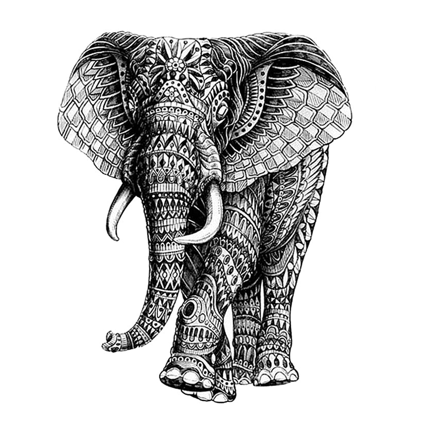 Temporary Tattoo Elephant Inkotattoo