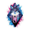 Watercolor Wolf Temporary Tattoo Inkotattoo