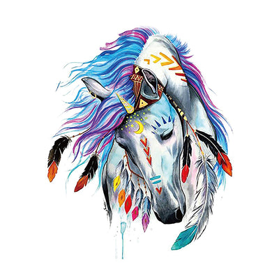 Indian Horse Watercolors Temporary Tattoo Inkotattoo