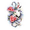 Skull Roses Temporary Tattoo