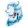 Lion Watercolors Temporary Tattoo Inkotattoo
