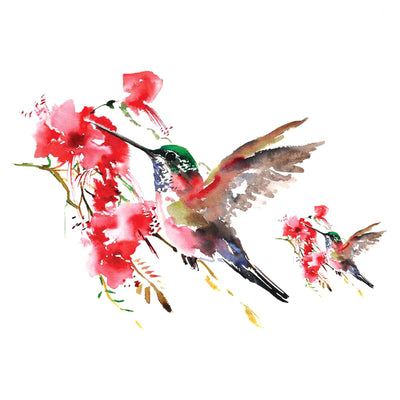 Humming-bird Watercolors temporary tattoo inkotattoo