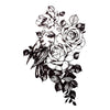 Bird Roses Flowers Temporary Tattoo