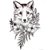 Flower Fox Temporary Tattoo Inkotattoo
