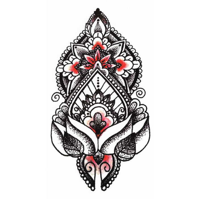 Temporary Tattoo Mandala Flower