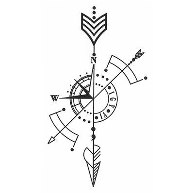 Arrow temporary tattoo InkoTattoo