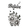 Temporary Tattoo Quotes Rose Bird