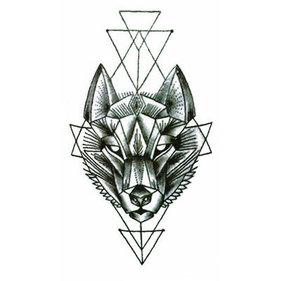 Graphic wolf temporary tattoo inkotattoo