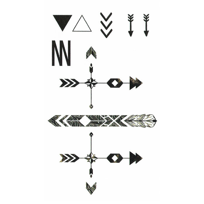 Temporary Tattoo Arrows