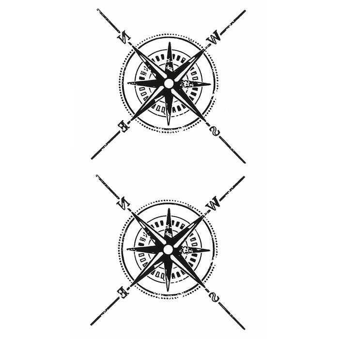 Compass Temporary tattoo Inkotattoo