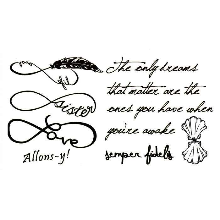 Quotes temporary Tattoo Inkotattoo