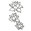 lotus temporary tattoo inkotattoo