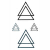 triangle temporary tattoo