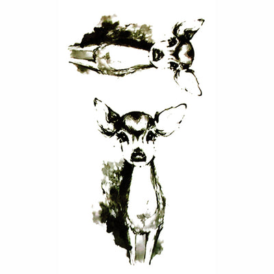 Temporary Tattoo Fawn Animal
