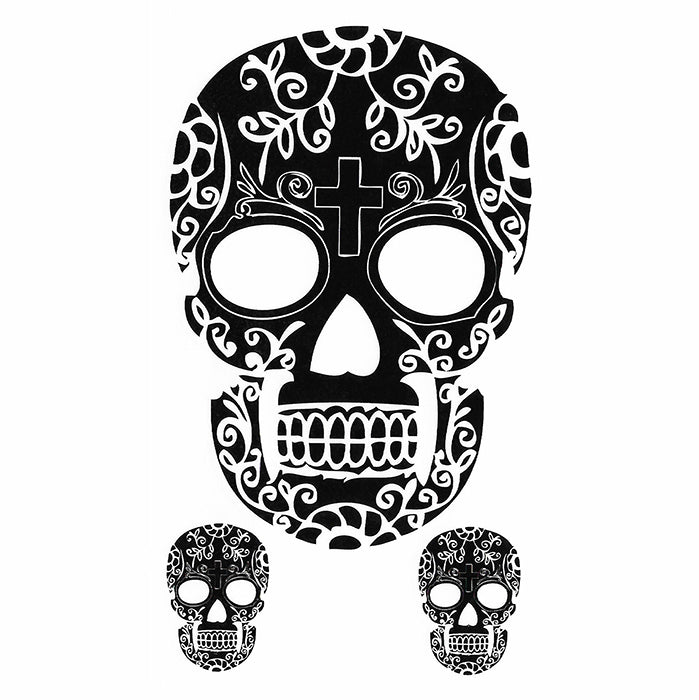 Temporary Tattoo Skull Calavera