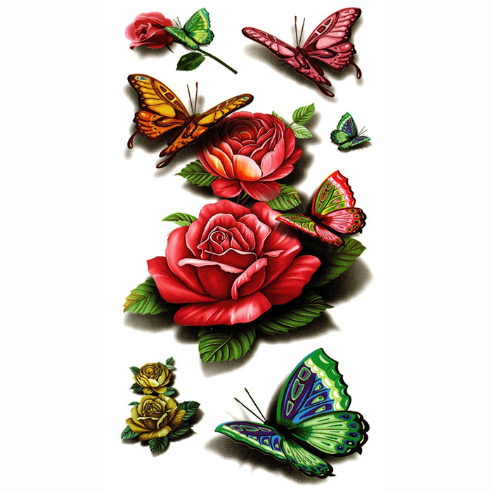 Roses & Butterfly