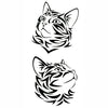 Tribal Cat (2pcs)