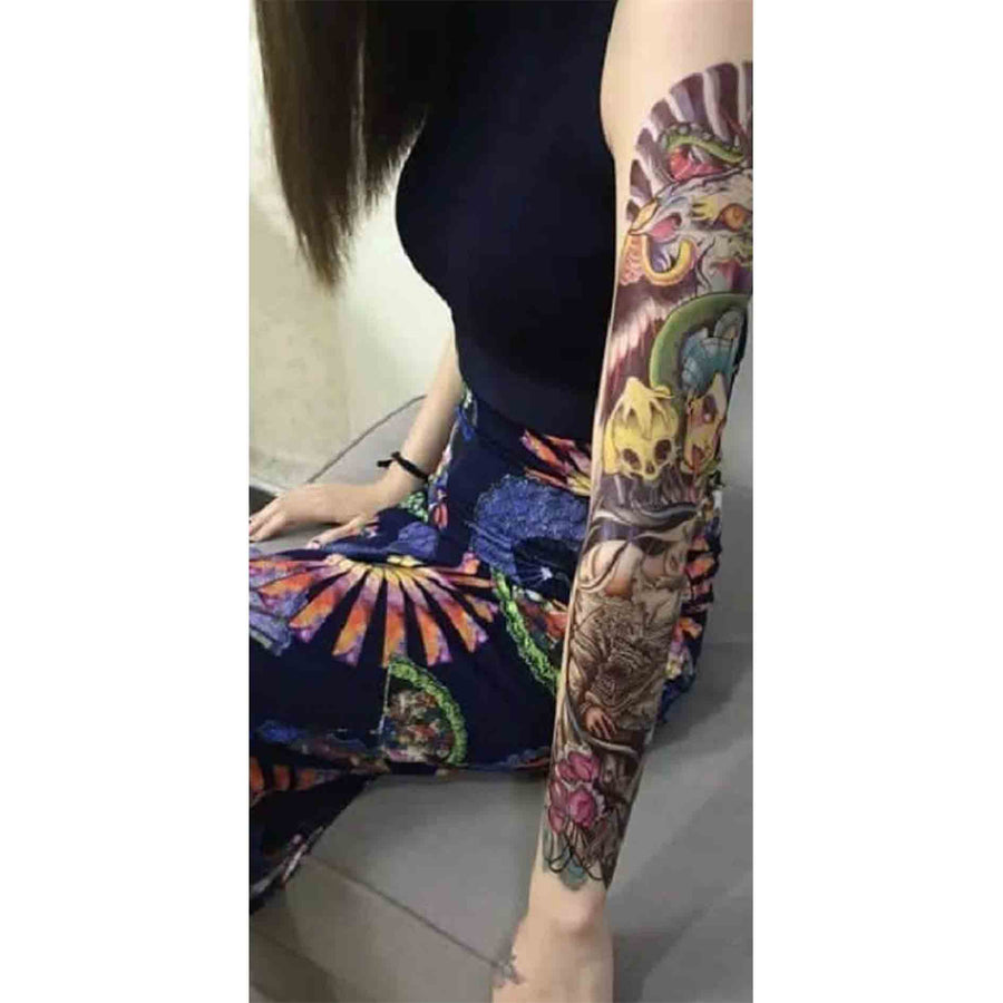 Japanese sleeve temporary tattoo inkotattoo