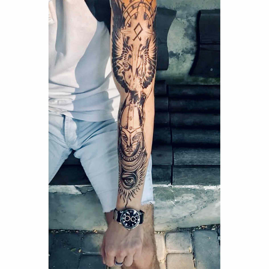 Viking & Raven Sleeve