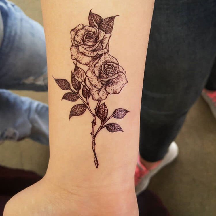 Flash Roses Temporary Tattoo Inkotattoo