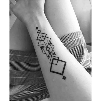 graphic geometry temporary tattoo