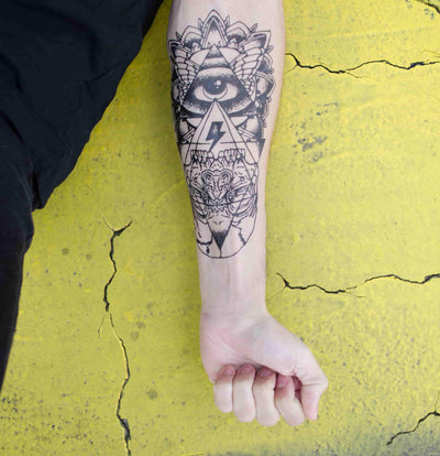 Geometrical temporary tattoo inkotattoo