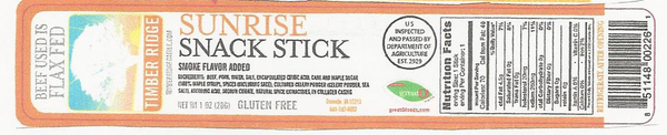 Timberridge Cattle Sunrise Snack Stick