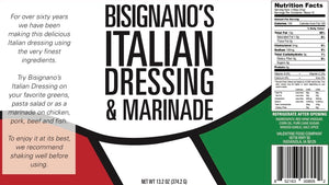 Bisignano's Italian Dressing and Marinade