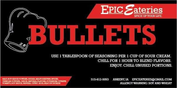 Epic Eateries Bullets