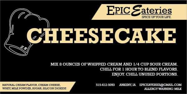 Epic Eateries Cheesecake