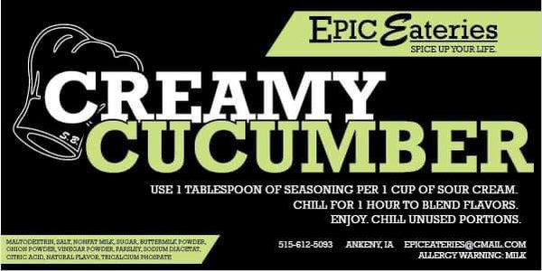 Epic Eateries Creamy Cucumber