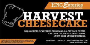 Epic Eateries Harvest Cheesecake