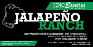 Epic Eateries Jalepno Ranch