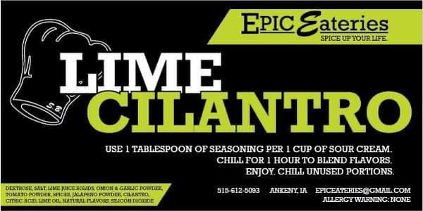 Epic Eateries Lime Cilantro