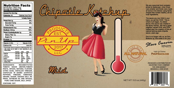 Pin Up Mild Chipotle Ketchup