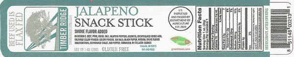 Timberridge Cattle Jalapeno Pepper Snack Stick
