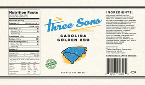 Three Sons' Carolina Golden BBQ Sauce