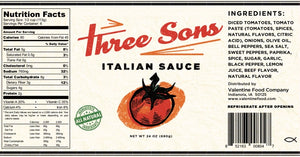 Three Sons Italian Sauce