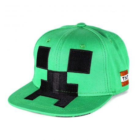 Casquette Enfant Checkered Creeper  Minecraft - - Boutique Top Tendance