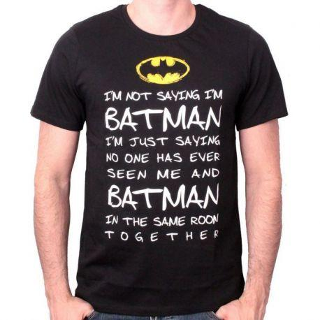 FDS Tshirt  Im Not Saying  Batman DC Comics - Boutique Top Tendance