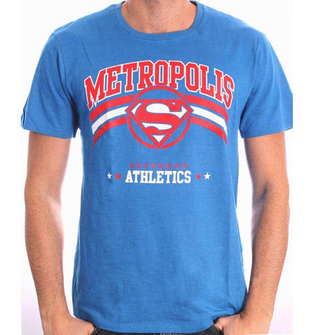 FDS Tshirt  Athletic superman Bleu- Superman DC Comics - Boutique Top Tendance