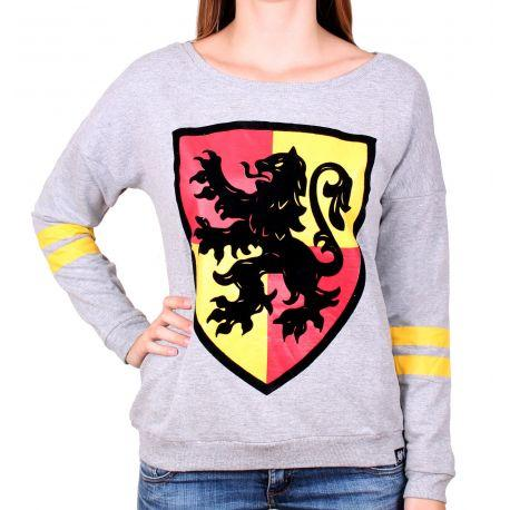 Pull Over Gris Blason Gryffondor  Harry Potter Femme - Boutique Top Tendance