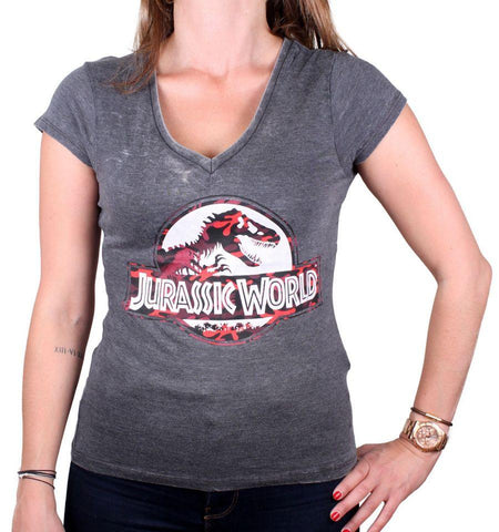 T-shirt Camouflage Logo  Jurassic World Femme - Boutique Top Tendance