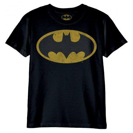 Tshirt Enfant Dc Comics - Batman Logo Grunge - Boutique Top Tendance