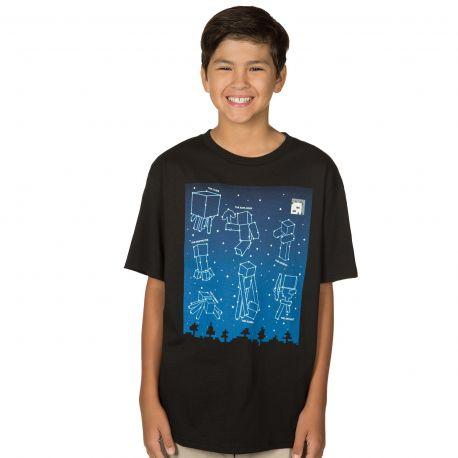 Tshirt Minecraft enfant - Constellations - Boutique Top Tendance