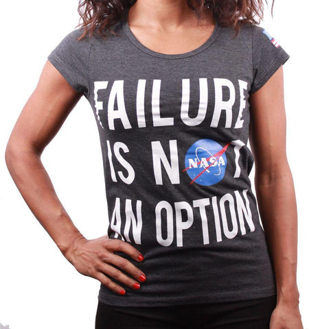 Tshirt NASA Femme - Failure is not an option - Boutique Top Tendance