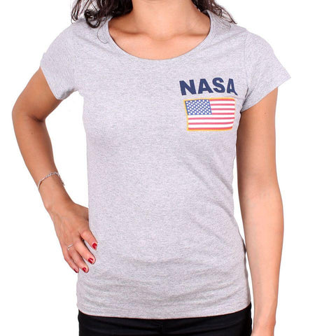 Tshirt Gris NASA Femme - Nasa USA - Boutique Top Tendance